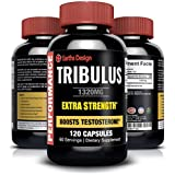 Pure Bulgarian Tribulus Terrestris, Increases Libido, Sex Drive & Stamina, Promotes Natural Testosterone Production, 95% Saponin, 80% Protodioscin, Highest Potency on Amazon, 1320mg - 120 Capsules