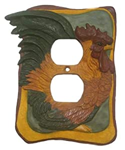 French Country Rooster Kitchen Decor Electrical Outlet