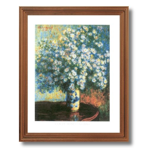 Framed Oak Claude Monet French Flower Table Wall Decor Contemporary Picture Art Print