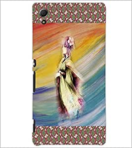 PrintDhaba Animated Girl Sketch D-3580 Back Case Cover for SONY XPERIA Z4 (Multi-Coloured)