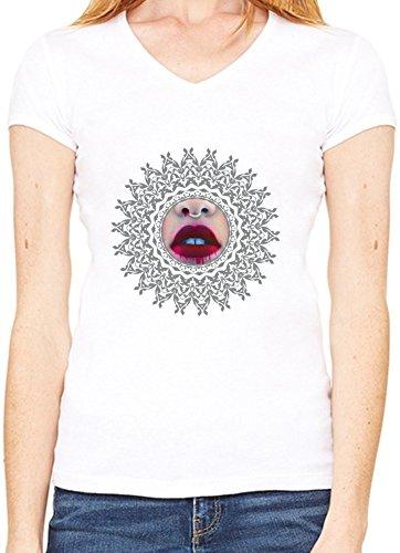 Bloody Pleasure T-Shirt V collo Donne Small
