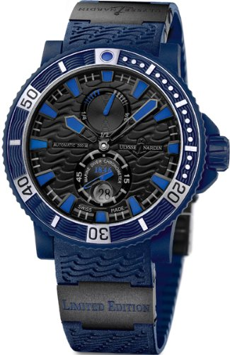NEW ULYSSE NARDIN MARINE BLUE SEA CHRONOMETER LIMITED EDITION MENS WATCH 263-97LE-3C