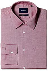 Blackberrys Men's Formal Shirt (8907196532716_MSDOC34RREN16BPQ_42_Raspberry Red)
