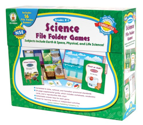 Science File Folder Games, Grades K - 1: Skill-Building Center Activities for Science