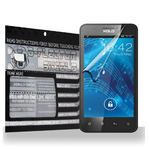 D-Flectorshield Xolo B700 Scratch Resistant Screen Protector - Free Replacement Program front-442823