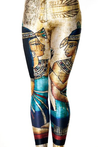 Egyptian Queen Digital Printing Womens Leggings Slim Stretchy Pants One Size