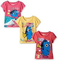 Disney Girls' 3 Pack Finding Dory Tee…