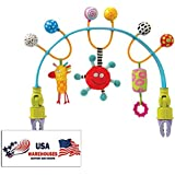 Taf Toys Flexi Arch Baby Stroller and Pram Carriage Activity Bar for Entertainment and Development (Stoller Flexi Arch)
