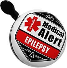 Bicycle Bell Medical Alert Red Epilepsy by NEONBLOND