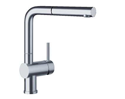 Blanco 441197 Linus Pullout Kitchen Faucet, Satin Nickel