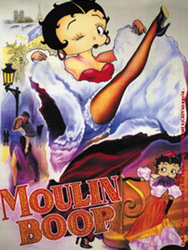 Licenses Products Betty Boop Moulin Boop Sticker - 1