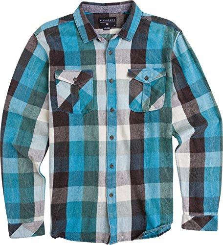 Billabong Big Boys' Reynolds Long Sleeve Woven Shirt, Blue, Medium front-899659