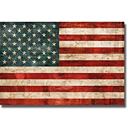 Allegiance by Luke Wilson Premium Stretched Canvas United States Flag (Ready to Hang)