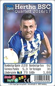 Teepe 23189 Sportverlag Hertha BSC Quartett 16/17 Kartenspiele