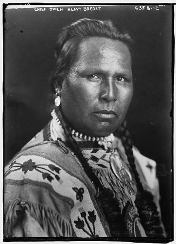 Photo Chief Owen Heavy Breast American Indian 1900
