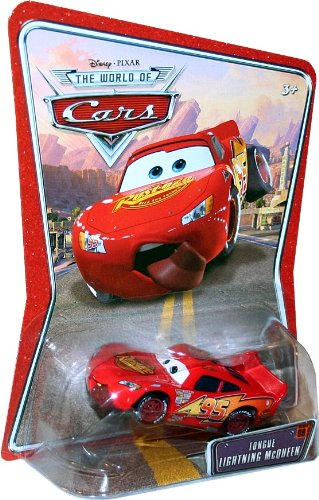 Buy Low Price Mattel TONGUE LIGHTNING MCQUEEN #09 Disney / Pixar CARS 1:55 Scale THE WORLD OF CARS Die-Cast Vehicle Figure (B003DX2JSC)