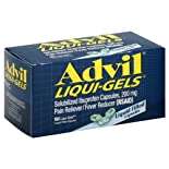 Advil Pain Reliever/Fever Reducer, 200 mg, Liquid Filled Capsules 160 liqui-gels