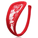 Womens Sexy Lace Leopard C-string G-String Panties Lady Underwear Thong Red Lace