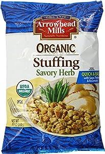 Arrowhead Mills Organic Savory Herb Stuffing Mix, 10 Ounce Box (Pack of 2)