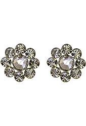 Tarina Tarantino Diamond Dusk Crystal Flower Post Earrings