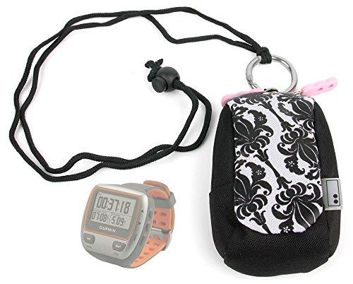 housse-etui-blanc-motifs-noirs-pour-montre-connectee-garmin-forerunner-310xt-110w-et-110m-runtastic-