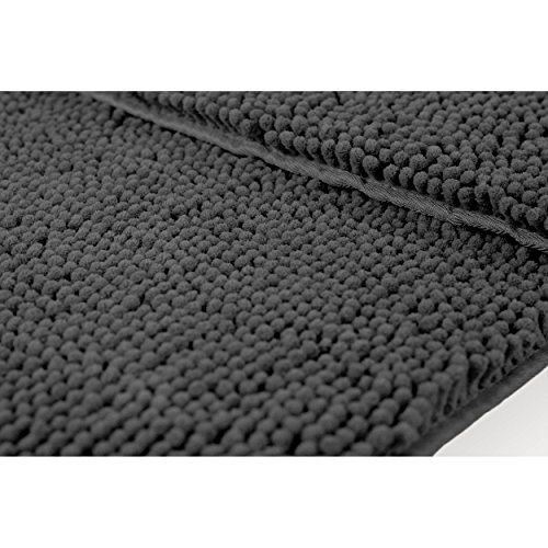 Resort Collection Chenille Plush Bath Mat, 21-Inch By 34