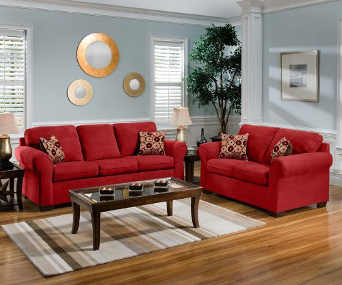 Furniture Living Room Furniture Couch Red Couch