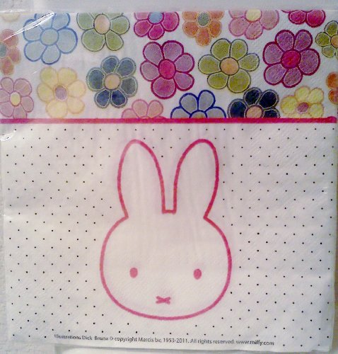 Miffy / Nijntje Bunny Rabbit Birthday Party Luncheon / Dinner Napkins ~ 20 Count - 1
