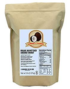 Anthony's Organic Shredded Coconut (Unsweetened) (5lb)