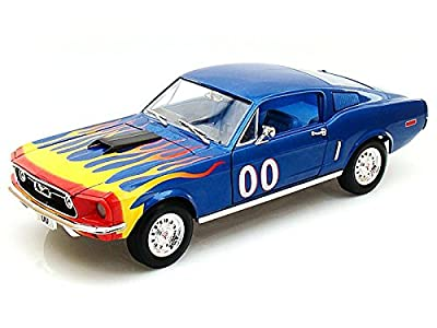 Cooter's 1968 Ford Mustang From The Dukes of Hazzard 1/18 Blue #00