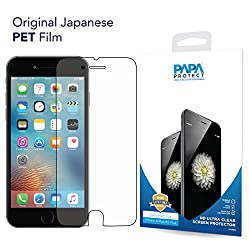 iPhone 6S Plus / 6 Plus Papa Protect HD Clear Screen Protector | Pack of 3 Film Protectors | 3D Touch Compatible | Original Japanese PET Film | True Touch | Perfect Fit | Scratch Protection | Unmatched Clarity | Bubble Free Application | Lifetime Warranty