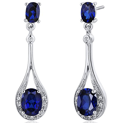 Created-Blue-Sapphire-Dangle-Earrings-Sterling-Silver-500-Carats