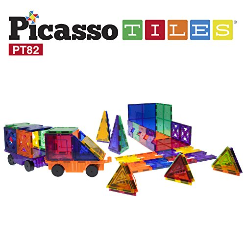 PicassoTiles-82-Piece-Building-Blocks-82pcs-Creativity-Kit-3D-Building-Construction-Toy-Set-Clear-Magnetic-Stacking-Block-STEM-Playboard-Magnet-Felt-Tiles-Novelty-Game-Creativity-Beyond-Imagination
