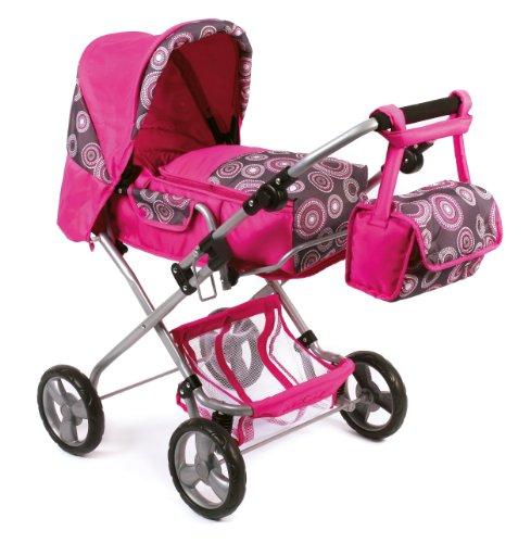 Bayer Chic 2000 586T87 - Kombi-Puppenwagen Bambina, hot pink pearls