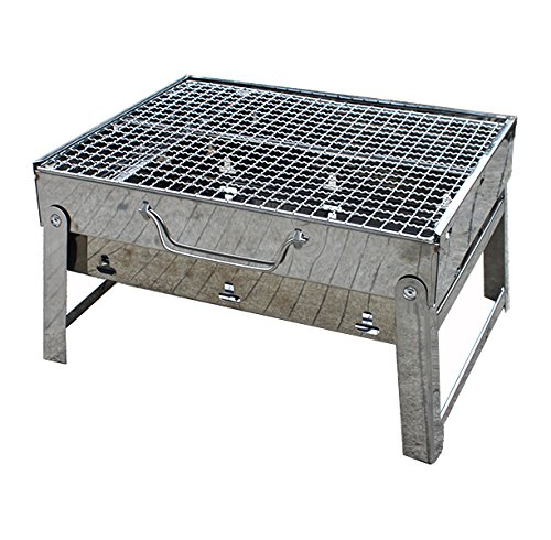 Agptek Stainless Steel Portable Folding Barbeque Grill