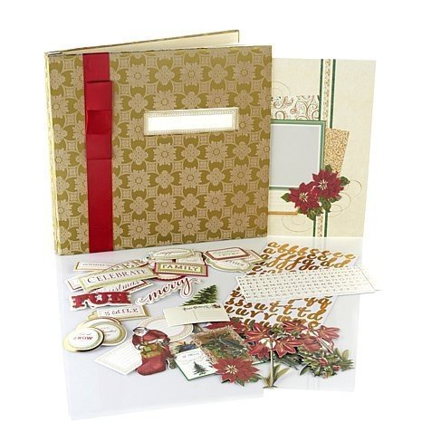 anna-griffin-crafts-christmas-holiday-scrapbook-photo-album-kit