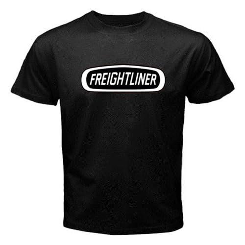 "Amazon.com: Freightliner Trucks Logo New Black T-shirt Size ""L"