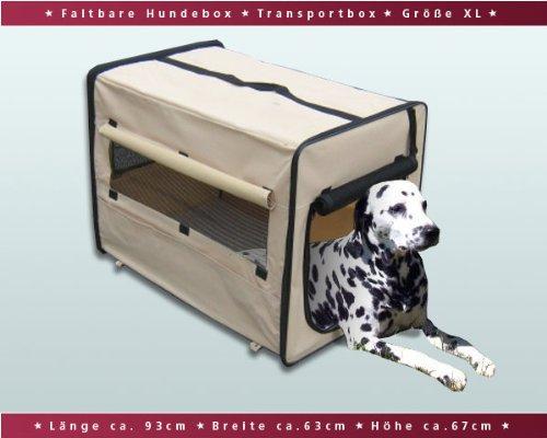 Faltbare-Hundebox-Auto-Transportbox-Transporthtte-Hundehtte-XL-Beige