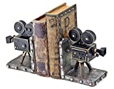 Vintage Style Film Camera Cast Resin Bookend Set of 2