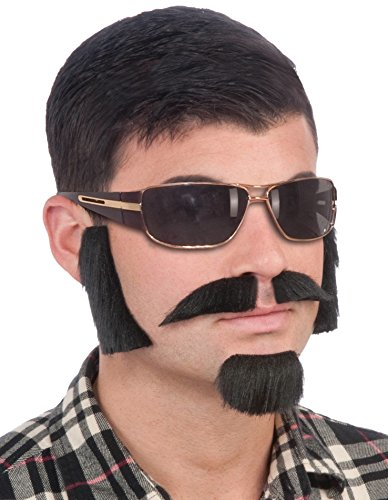 Forum Novelties Men's Facial Hair Disguise Kit, Brown, One Size