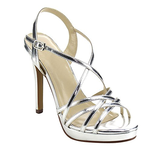 Beston BB85 Women's Almond Toe Stiletto Heel Dress Sandal