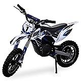 NEU Kinder Mini Crossbike Gazelle ELEKTRO 500 WATT inklusive verstärkter Gabel Dirt Bike Dirtbike Pocket Cross blau