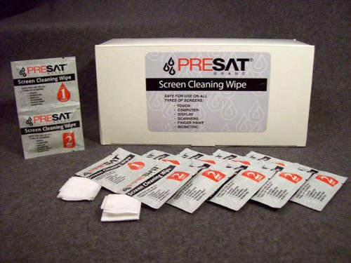 6Pk Presat Wet/Dry Screen Cleaning Wipes For Computer, Lcd Display, Scanners, Fingerprint, Ipod & Iphone