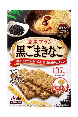 バランスアップ 玄米ブラン 黒ごまきなこ 150g (3枚×5袋)×5個