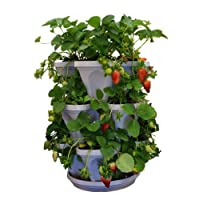 3 Tier Stackable Herb Garden Planter Set - Vertical Container Pots For Herbs, Strawberries, Flowers & More.