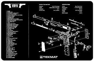 Ultimate Arms Gear Gunsmith & Armorer's Cleaning Work Tool Bench Gun Mat For 1911 Pistol Handgun
