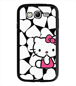 PrintDhaba Heart Kitty D-1255 Back Case Cover for SAMSUNG GALAXY GRAND I9082 (Multi-Coloured)