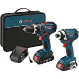 Factory-Reconditioned Bosch CLPK234-181-RT 18V Cordless Lithium-Ion 1/2 in. Drill Driver and Impact Driver Combo Kit