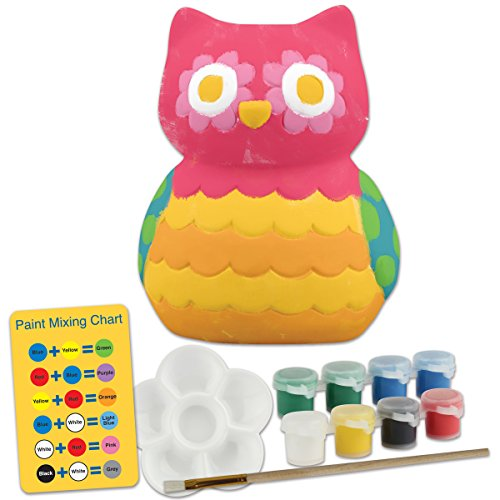 Stephen Joseph Ceramic Paint Your Own Bank-Owl - 1