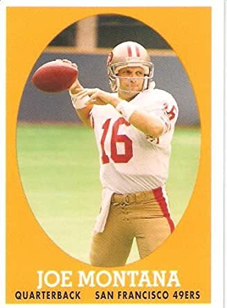 2007 Topps Turn Back The Clock # 16 Joe Montana - San Francisco 49ers - NFL Football Card